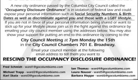ATTENTION CoMo RENTERS:  City Hall's most serious-ever attack on your civil rights